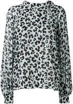 Dorothee Schumacher - leopard print longsleeved blouse - women - Silk/metal - 2