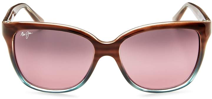 Maui Jim Women's Starfish Rectangle Sunglasses, 56mm