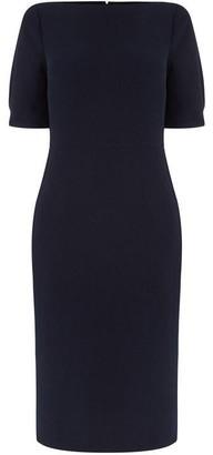 Warehouse Short Sleeve Midi Pencil Dress