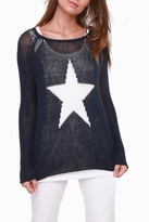 Wooden Ships Star Crewneck Sweater