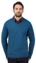 Maine New England Blue Knitted V Neck Jumper