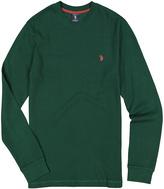 U.S. Polo Assn. Essex Green Waffle-Knit Long-Sleeve Tee