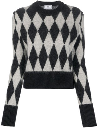 AMI Paris Argyle Intarsia Jumper