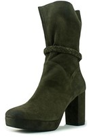 Free People Iris Women Square Toe Suede Green Mid Calf Boot.