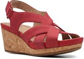 Clarks R) Un Capri Step Platform Wedge Sandal