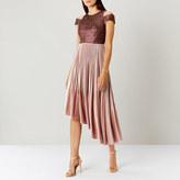 Coast Delores Pleated Velvet Dress