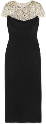 Jenny Packham Olivia Embellished Tulle And Cady Midi Dress