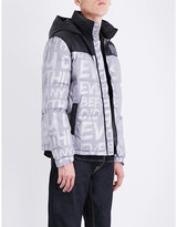 Evisu Logo-print down and feather-blend puffer jacket