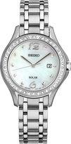 Seiko Womens Silver Tone Bracelet Watch-Sut311