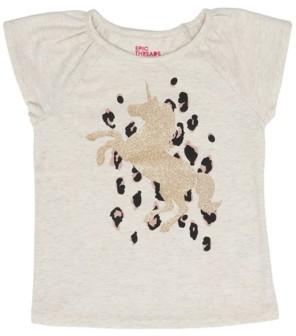 Epic Threads Little Girls Short Flutter Sleeve Unicorn Graphic Mix and Match Tee