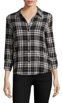 Generation Love Roberta Lace-Up Plaid Shirt