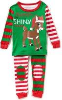 Baby Starters Baby 12-24 Months Christmas Reindeer Top & Striped Pants Pajama Set