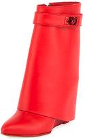 Givenchy Calfskin Shark-Lock Fold-Over Bootie
