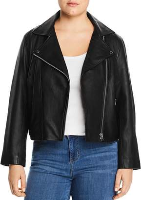All 67 Plus All 67 Cropped Leather Moto Jacket