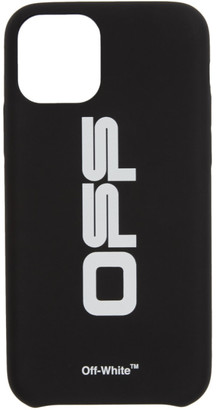 Off-White Black and White Wavy Logo iPhone 11 Pro Case