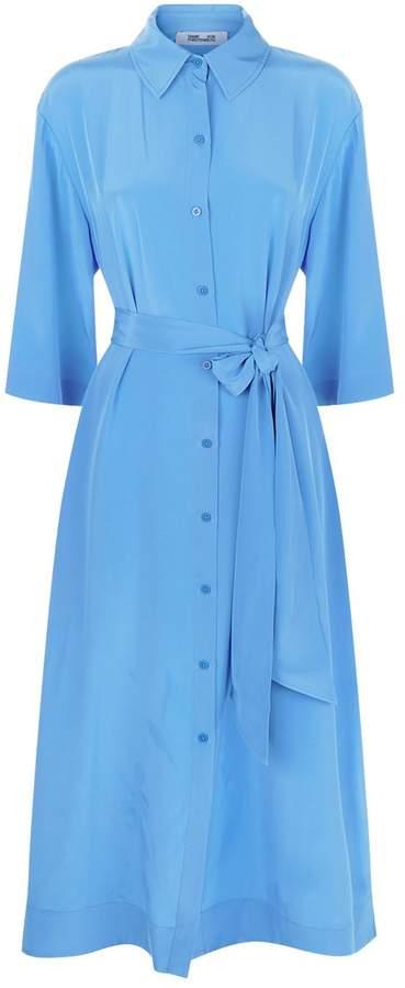 Diane von Furstenberg Silk Belted Shirt Dress