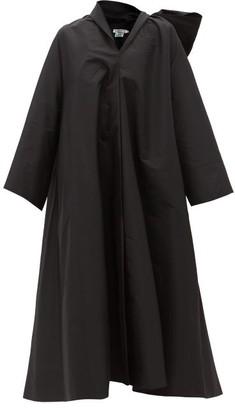 BERNADETTE Christian Bow-back Taffeta Coat - Black