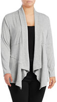 Calvin Klein Performance Plus Ribbed Sleeve Waterfall Cardigan