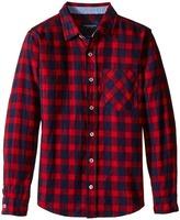Toobydoo Lumberjack Red Flannel Shirt (Infant/Toddler/Little Kids/Big Kids)
