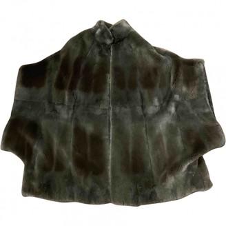 Saint Laurent Grey Mink Jacket for Women