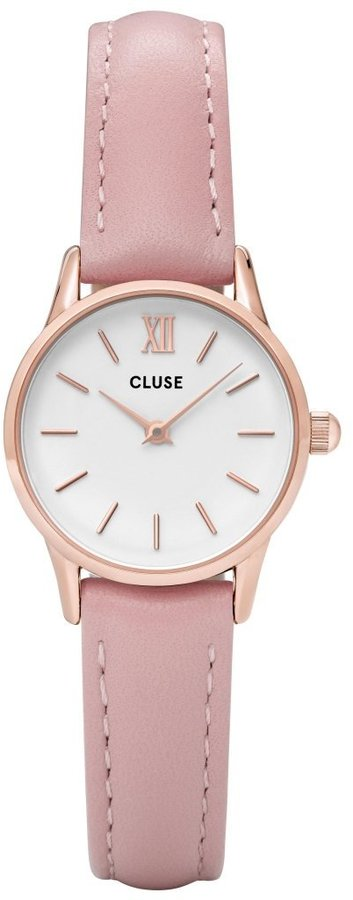 Cluse Women's 24mm Pink Leather Band Steel Case Quartz Analog Watch Cl50010