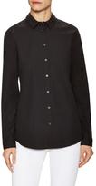Burberry Cotton Checkered Trim Shirt