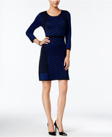 Nine West Dot-Print Sweater Dress