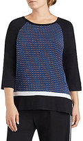 DKNY Plus Geometric Jersey Raglan Sleep Top