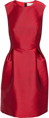Sachin + Babi Pleated Duchesse-satin Mini Dress