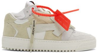 Off-White Grey and Beige 3.0 Low-Top Sneakers