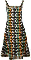 Tory Burch floral embroidered dress - women - Cotton/Polyester/Viscose - 4