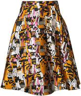 Paule Ka full jacquard midi skirt - women - Polyester - 42