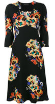 Etro V neck floral print midi dress - women - Viscose - 38