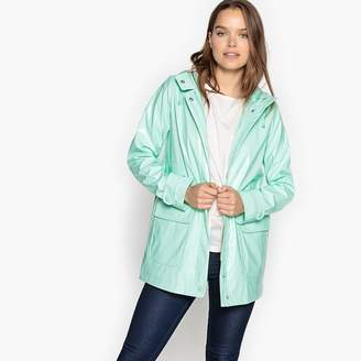 La Redoute Collections Waxed Hooded Raincoat
