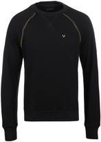 True Religion Black Raglan Crew Neck Sweater