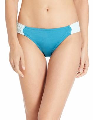 BCBGMAXAZRIA Women's Shirred Side Sash Low-Rise Hipster Bikini Bottom