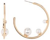 Rebecca Minkoff Three Faux Pearl Hoop Earrings