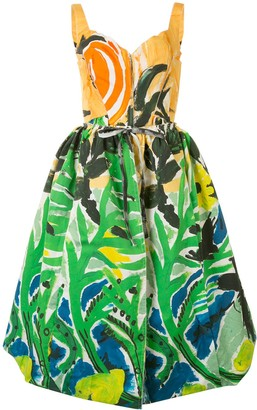 Marni Tropical Print Midi Dress