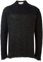 Marni textured bicolour jumper