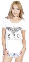 MYVL Bro Los Angeles Boyfriend Tee in White