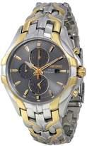 Seiko Solar Chronograph Grey Dial Two-tone Men's Watch