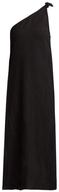 Mara Hoffman Camilla Organic Cotton One Shoulder Dress - Womens - Black