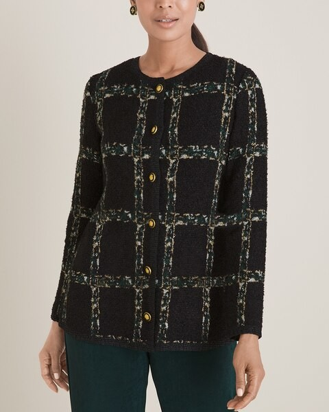 Travelers Collection Crushed Tweed Jacket
