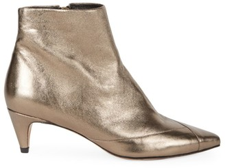 Isabel Marant Durfee Metallic Leather Ankle Boots