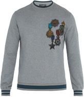 Dolce & Gabbana Medal-print cotton sweatshirt
