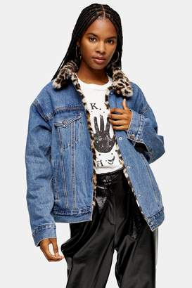 Levi's Womens Reversible Oversized Trucker Jacket By Mid Stone