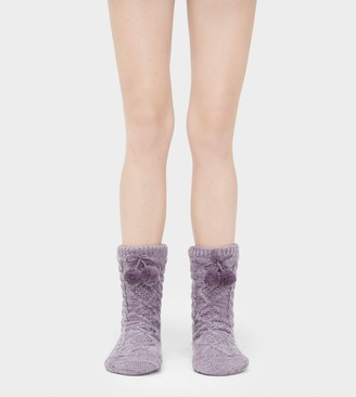 UGG Pom Pom Fleece Lined Crew Sock