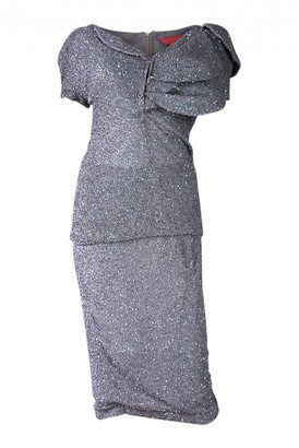 Manish Arora Anthracite Silk Dress for Women