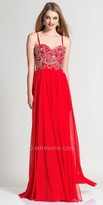 Dave and Johnny Beaded Sweetheart Empire Prom Dress