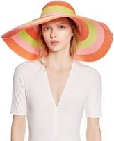 Eric Javits Striped Dipped Brim Sun Hat